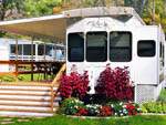 View larger image of Mobile home with picnic table at RIVERDALE FARM CAMPSITES image #9