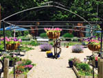 View larger image of Flower boxes and hanging plants at RIVERDALE FARM CAMPSITES image #10