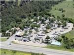 View larger image of Aerial view over campground at RAPID CITY RV PARK AND CAMPGROUND image #7