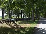 View larger image of Four cannons next to a rock formations at GETTYSBURG CAMPGROUND image #7