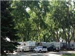 View larger image of White SUV and black truck parked near RVs and trailers camping at LOVELAND RV RESORT image #5