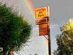 View larger image of Rainbow behind park sign at WONDERLAND RV PARK image #5
