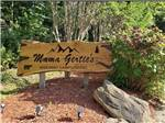View larger image of The front entrance sign at MAMA GERTIES HIDEAWAY CAMPGROUND image #2