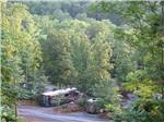 View larger image of Ariel view of RVs parked  at MAMA GERTIES HIDEAWAY CAMPGROUND image #4