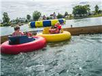 View larger image of Bumper boats at CABOOSE LAKE CAMPGROUND image #10