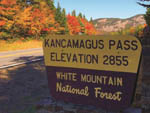 View larger image of The sign for Kancamagus Pass at WHITE MOUNTAINS ATTRACTIONS ASSOC image #4