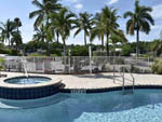 View larger image of The pool and hot tub area at EVERGLADES ISLE MOTORCOACH RESORT  MARINA image #4