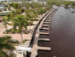 View larger image of An aerial view of the docks at EVERGLADES ISLE MOTORCOACH RESORT  MARINA image #11
