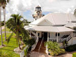 View larger image of An aerial view of the clubhouse and lighthouse at EVERGLADES ISLE MOTORCOACH RESORT  MARINA image #12