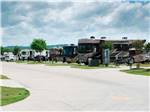 View larger image of Motorhomes and travel trailers parked  at FUN TOWN RV PARK AT WINSTAR image #3