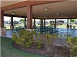 View larger image of Patio area with picnic tables at FUN TOWN RV PARK AT WINSTAR image #11
