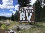 View larger image of Sign leading into campground at OUTBACK MONTANA RV PARK  CAMPGROUND image #1