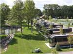 View larger image of Aerial view over campground at PETOSKEY RV RESORT image #3