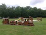 View larger image of Playground with train at BROOKVILLE CAMPGROUND image #4