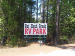 View larger image of Sign at the park entrance at CATHEAD CREEK RV PARK image #6