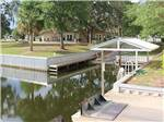 View larger image of Dock on the lake at FISHERMANS COVE GOLF  RV RESORT image #7