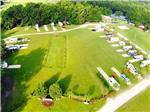 View larger image of Aerial view over motorhomes and trailers among grass at RED GATE CAMPGROUND  RV PARK image #2