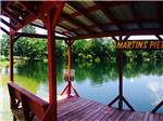 View larger image of Martins pier overlooking the lake at RED GATE CAMPGROUND  RV PARK image #8