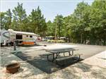 View larger image of Trailer camping at campsite at DRIFTWOOD RV RESORT  CAMPGROUND image #3