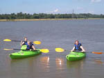 View larger image of Kids kayaking at 370 LAKESIDE PARK RV CAMPGROUND image #2