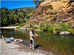 View larger image of Man fishing at RUSSIAN RIVER RV CAMPGROUND image #2