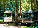 View larger image of Two RVs parked in the woods at PARADISE THOUSAND TRAILS RESORT image #1