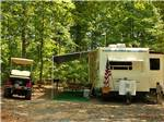 View larger image of Trailer camping at campsite at LYNCHBURG RV image #1