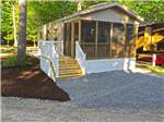 View larger image of Cabin with deck at MOODY BEACH RV CAMPGROUND image #6