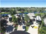 View larger image of Aerial view over campground at AZTEC RV RESORT image #12