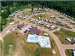 View larger image of Aerial view over campground at CAMP TURKEYVILLE RV RESORT image #1
