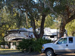 View larger image of Trailer camping at campsite at CEDAR KEY RV RESORT image #2