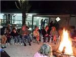 View larger image of Group of people sitting around campfire at SEMINOLE CAMPGROUND image #6