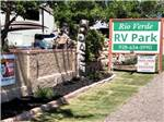 View larger image of Sign at park entrance at RIO VERDE RV PARK image #2