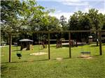 View larger image of Swing set on a grass playground at YONAH MOUNTAIN CAMPGROUND image #9