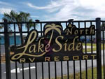 View larger image of Sign on gated entrance at LAKESIDE NORTH RV RESORT image #1