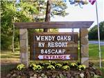 View larger image of The front entrance sign at WENDY OAKS RV RESORT image #3