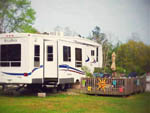 View larger image of RV parked at campsite at HAWKINS CREEK CAMPGROUND image #4