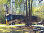 View larger image of RV at campsite at HAWKINS CREEK CAMPGROUND image #6