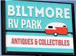 View larger image of Sign leading into campground at BILTMORE RV PARK image #8