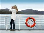 View larger image of Cruise ship at sunset at ALASKA MARINE HIGHWAY SYSTEM image #6