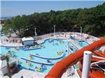 View larger image of Looking at the pool from the top of the large water slide at MYRTLE BEACH CAMPGROUNDS image #3