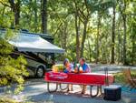 View larger image of Couple dining outdoors at GEORGIA STATE PARKS  HISTORIC SITES image #2