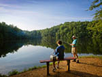 View larger image of Father and son fishing at GEORGIA STATE PARKS  HISTORIC SITES image #9