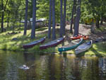 View larger image of Canoes on the riverbank at GEORGIA STATE PARKS  HISTORIC SITES image #10