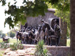 View larger image of Statue of cattle rustlers at CHISHOLM TRAIL HERITAGE CENTER image #3