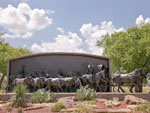 View larger image of Depiction of cattle rustlers at CHISHOLM TRAIL HERITAGE CENTER image #4