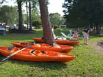 View larger image of Kayaks on the bank at CYPRESS CAMPING RESORT image #4