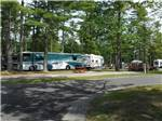 View larger image of Big rig in a treed site at OLD ORCHARD BEACH CAMPGROUND image #5