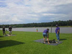 View larger image of Campers at lake at NATALBANY CREEK CAMPGROUND  RV PARK image #10