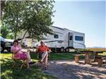 View larger image of Couple at their campsite at COLORADO PARKS  WILDLIFE image #6